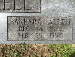 Barbara Allen <I>Herrington</I> Cockrell