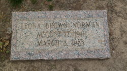 Leona <I>Brown</I> Norman