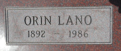 "Orin Lano ""Lane"" Burchett"