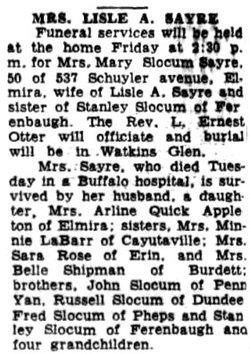 Mary Jane <I>Slocum</I> Sayre