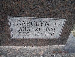 Carolyn F Janak