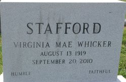 Virginia <I>Whicker</I> Stafford