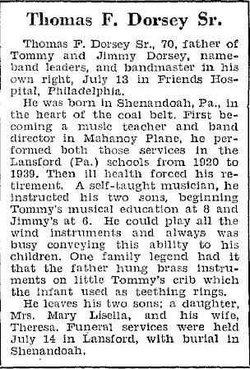 Thomas Francis Dorsey