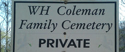 W H Coleman Family Cemetery