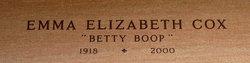 "Emma Elizabeth ""Betty Boop"" <I>Cooley</I> Cox"