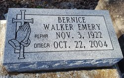 Bernice <I>Walker</I> Emery