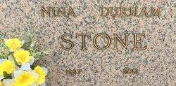 Nina <I>Durham</I> Stone