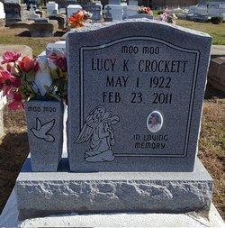 "Lucy Mary ""Muu Muu"" <I>Kibby</I> Crockett"