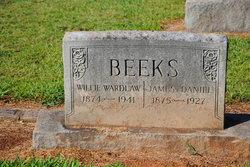 "Williamina ""Willie"" <I>Wardlaw</I> Beeks"