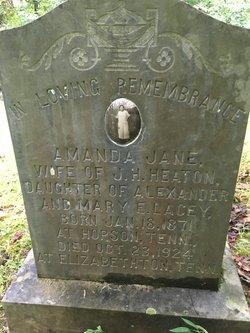 Amanda Jane <I>Lacey</I> Heaton