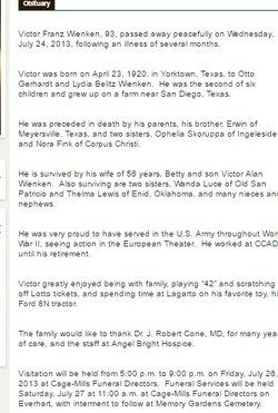 Victor Franz Wienken (1920-2013) - Find A Grave Memorial