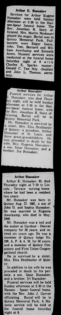 Arthur Eugene Hunsaker