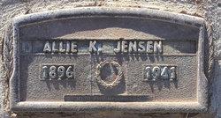 """Alice C """"Allie"""" <I>Kyhl</I> Jensen"""