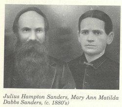 "Mary Ann Matilda ""Mollie"" <I>Dabbs</I> Sanders"