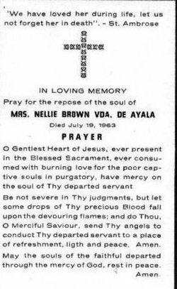 Nellie Jane <I>Brown</I> Ayala