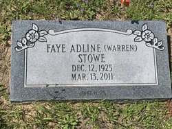 Faye Adline <I>Warren</I> Stowe