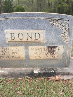 Minnie Lee <I>Rowden</I> Bond