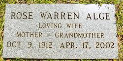 Margaret Rose <I>Warren</I> Alge