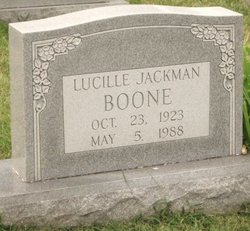 Lucille Price <I>Jackman</I> Boone