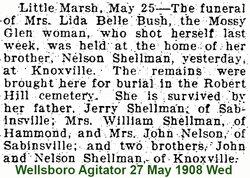 Lida Belle <I>Shellman</I> Bush