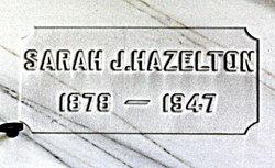 Sarah J Hazelton