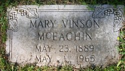 Mary Viola <I>Vinson</I> McEachin