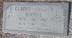 Gladys <I>Durden</I> Boothe