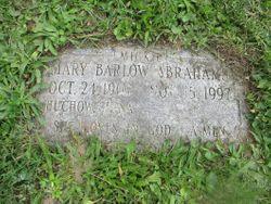 Mary Ruth <I>Barlow</I> Abrahams
