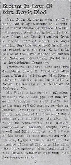 Pierce Butler Ward, Sr