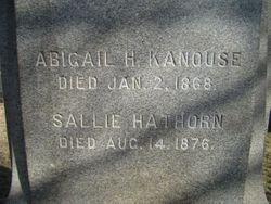 Abigail <I>Hathorn</I> Kanouse