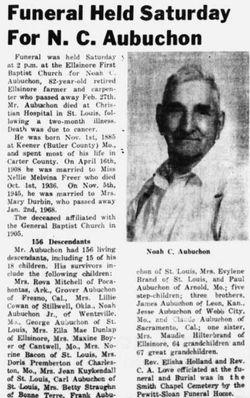 Noah Cleveland Aubuchon (1885-1968) - Find A Grave Memorial