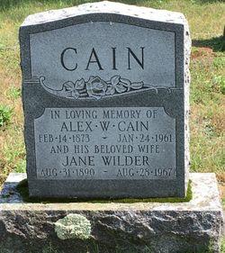 Serepta Jane <I>Wilder</I> Cain