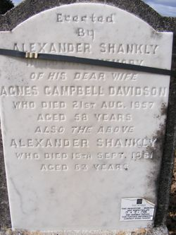 Agnes McCall Campbell <I>Davidson</I> Shankly