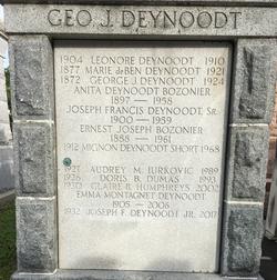 Joseph Francis Deynoodt, Sr.