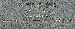Annie E <I>Dye</I> Jones
