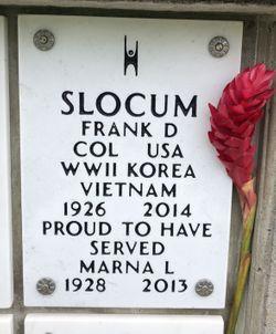 Col Frank David Slocum