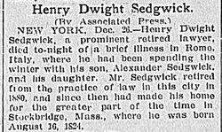 """Henry Dwight """"Harry II"""" Sedgwick"""