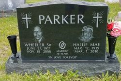 """Hallie Mae """"Mother Parker"""" <I>Wright</I> Parker"""
