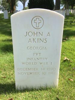 John A Akins