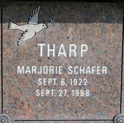 Marjorie <I>Schafer</I> Tharp