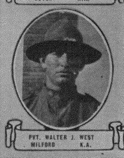Pvt Walter J West