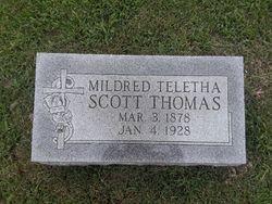 Mildred Teletha <I>Scott</I> Thomas