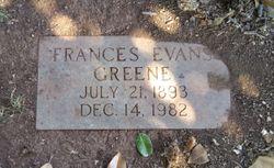 Frances <I>Evans</I> Greene