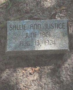 Sallie Ann <I>Clayter</I> Justice