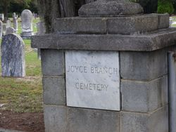Joyce Branch Church Cemetery - Dunbarton
