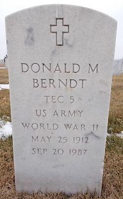 Donald M Berndt