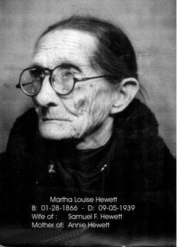 Martha Louise <I>Hewett</I> Hewett