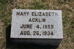 Mary Elizabeth Acklin