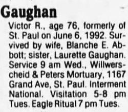 Victor Raymond Gaughan