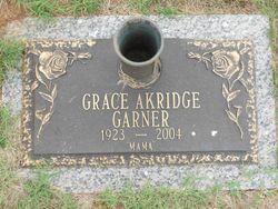 Grace Moncile <I>Akridge</I> Garner